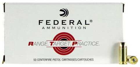 Federal Cartridge Range and Target 40 S&W 165 Grain Full Metal Jacket (FMJ) 50 Rounds