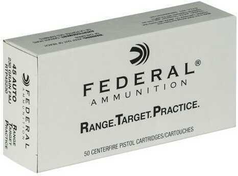 Federal Range Target Practice 45 Auto 230 Grains FMJ 50Bx