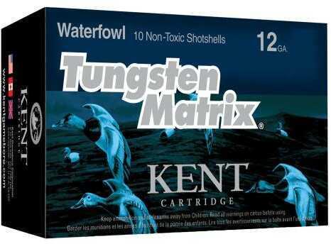 """Kent Cartridge C123NT423 Tungsten Matrix Waterfowl 12 Gauge 3"""" 1-1/2 oz 3 Shot 10 Bx"""