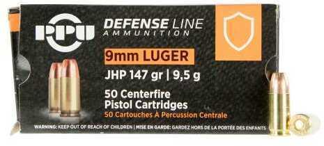 Prvi Partizan PPU 9mm Luger Ammunition 50 Rounds 147 Grain Jacketed Hollow Point