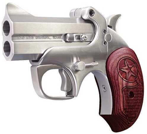"""Bond Arms Texas Defender 45 Colt 3"""" Barrel 2 Round Rosewood Grip Satin Finish Derringer Pistol BATD45COLT"""