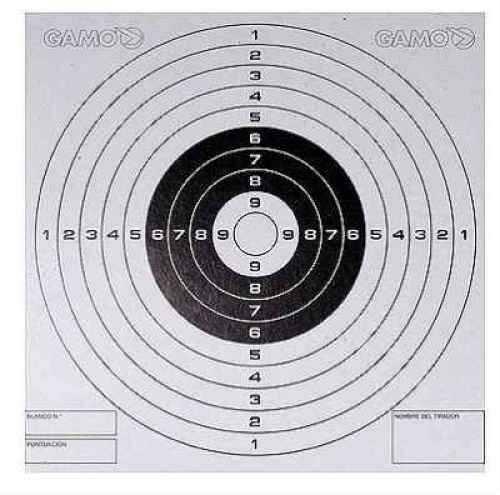 Gamo Bullseye Targets 100 Pack Md: 621210654