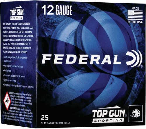 "Federal TGS12878 Top Gun Sporting 12 Gauge 2.75"" 1 Oz 8 Shot 25 Bx"