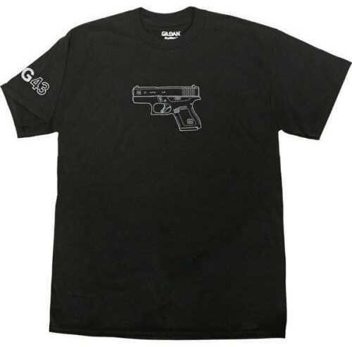 Glock Graphic Short Sleeve T-Shirt 43, Size Large, Black Md: AA46102