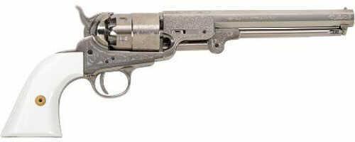 "Traditions FR185117 Revolver 44 Black Powder 7.375"" Hammer/Blade Simulated Ivory Stk"