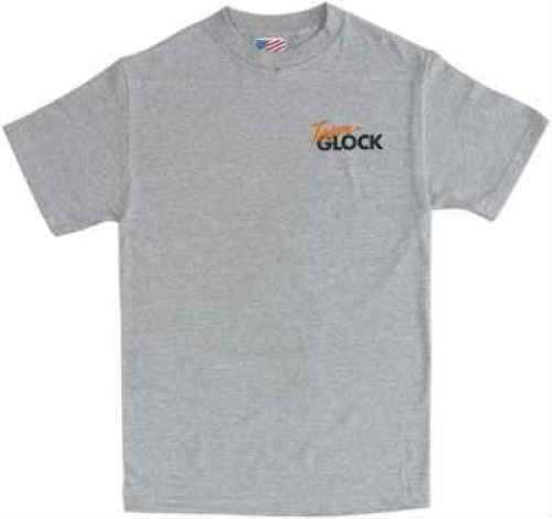 Glock Short Sleeve Large Ash Gray T-Shirt Md: AA03129 AA03129