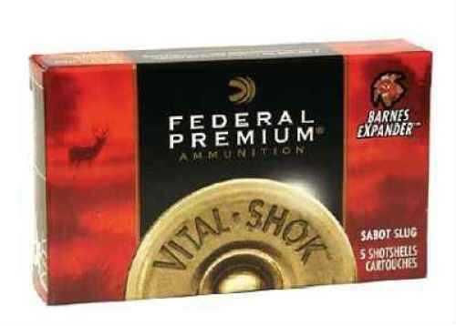 "Federal Cartridge Rifled Slugs 20 Gauge Premium Vital-Shok 2 3/4"" TruBall Hollow Point (Per 5) PB203RS"
