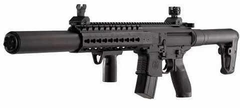 Sig Sauer Airguns MCX .177 Cal Co2 Pellet Rifle, Black Md: Air-MCX-177-88G-30-Blk