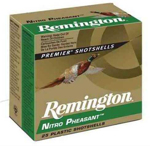 """Remington Nitro Pheasant 12 Ga. 2 3/4"""" 1 1/4 oz #4 Copper Plated Lead Shot 25 Rounds Per Box Ammo Case Price 2 NP124"""