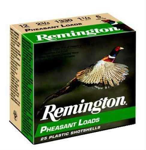 """Remington Pheasant 20 Ga. 2 3/4"""" 1 oz #6 Lead Shot 25 Rounds Per Box Ammunition Md: PL206 Case Price 250 Round PL206"""
