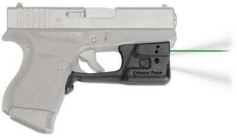 Crimson Trace LL803GHBT Laserguard Pro Glock 42/43 with Holster Green Laser Trigger Guard