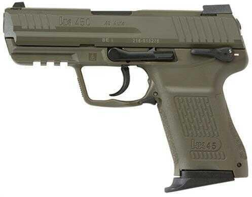 Heckler & Koch Semi Auto Pistol Hk45 Green With 3 Magazines 8 Rounds 745037GGLEA5