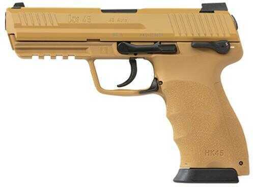 Heckler & Koch 45ACP HK45 Double Action Only LEM Tan Finish 3-10 Round Magazines Semi Automatic Pistol 745007Barrel E-A5
