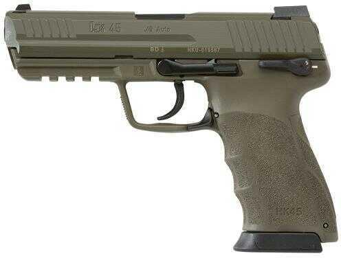 Heckler & Koch HK45 45ACP Double/Single Action Pistol 45ACP LEM Green Finish 3-10 Round Mags Semi Automatic Pistol