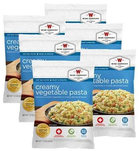 Wise Foods Wise Food Outdoor Food Packs 6Ct/4 Serving Creamy Pasta Vegetable Rotini 2W02202