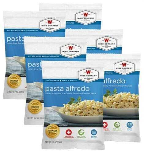 Wise Foods Outdoor Food Packs 6 Ct/4 Servings Pasta Alfredo 2W02206