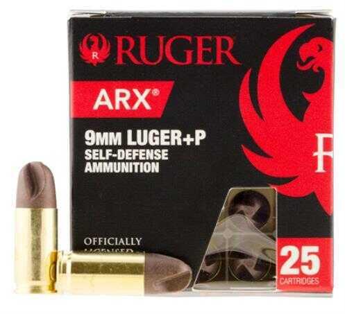 Ruger ARX 9mm Luger+P Self Defense Ammunition 25 rds Model 9ARXRUG25
