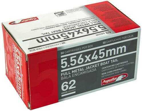 Aguila Ammunition Rifle 5.56 NATO 62 Grain Full Metal Jacket 50 Round Box 1E556110