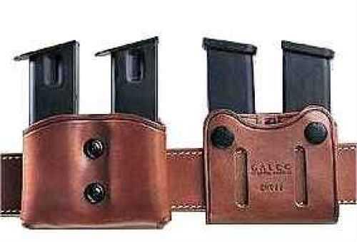 "Galco International Galco Havana Brown Double Magazine Case Fits Belts 1""-1 3/4"" Wide Md: DMC22H DMC22H"