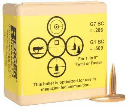 Berger Bullets 6.5mm (.264) 130 Grain AR Hybrid Open Tip Match Tactical Reloading Bullets, 100 Per Box Md: 26195