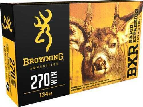 Browning BXR 270WIN 134GR Rapid Expansion Matrix Tip Ammunition 20rds Model B192102701