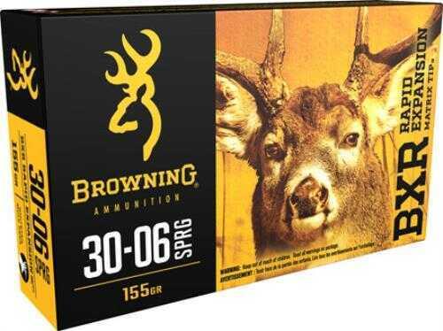 Browning BXR 30-06 Springfield 155GR Matrix Tip 20rds Model B192130061