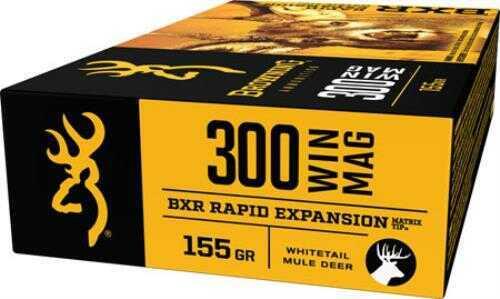 Browning BXR 300 WIN MAG 155GR Rapid Expansion Matrix Tip 20 rds Model B192103001