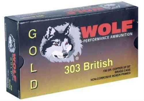 Wolf Performance Ammo Wolf 303 British 150 Grain Jacketed Soft Point Ammunition Md: G303SP1 G303SP1