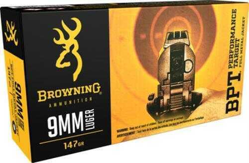 Browning BPT 9mm Luger 147gr FMJ 50 rounds