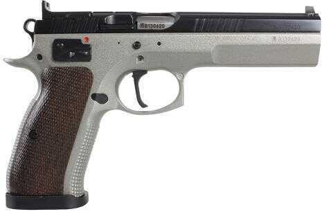 "CZ USA  CZ-75 Tactical Sport 40 S&W 5.4"" Barrel 10+1 Rounds  Checkered Walnut Grip Dual-Tone Semi Automatic Pistol 01171"