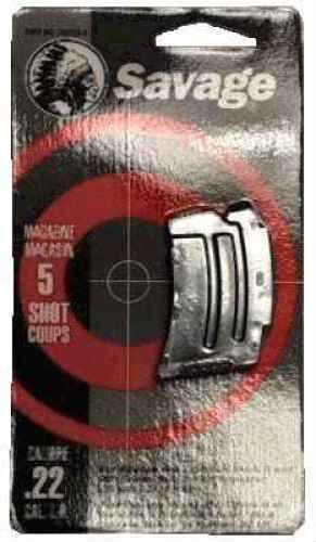 Savage Arms Magazine Box 90 Series, 5 Shot, Stainless 90009