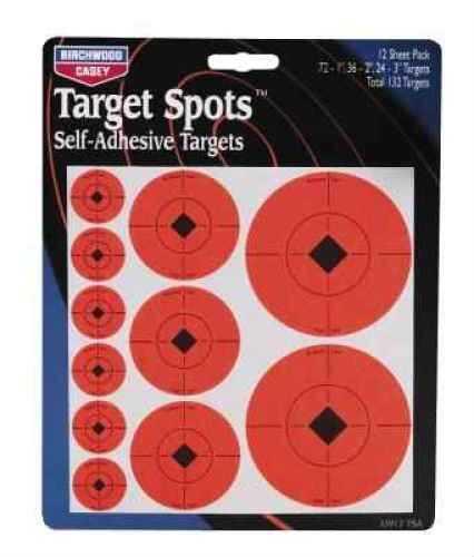 """Birchwood Casey Target Spots 1"""" 2"""" & 3"""" Target Spots Assortment 33928"""