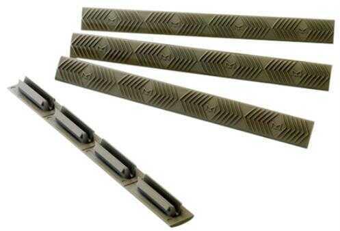 Ergo M-LOK Slot Rail Covers, Pack Of 4, Olive Drab Green Md: 4332OD