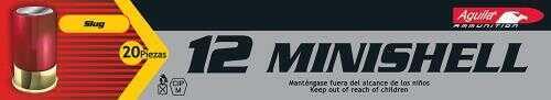 Aguila Minishell 12 Gauge Rifled Slug 1-3/4 7/8 Oz 20 Box