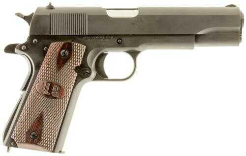 "Auto-Ordnance Thompson Series 80 1911 45 ACP Semi Auto Pistol 5"" Barrel 7 Round Checkered Wood Grip With US Logo Matte Black Finish"