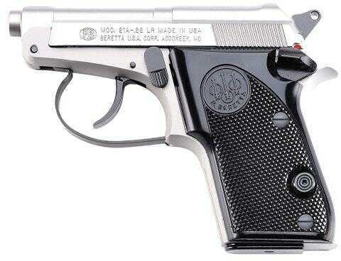 """Beretta 21 Bobcat Inox 22 Long Rifle Pistol 2.4"""" Barrel 7 Round Capacity Gray J212500"""