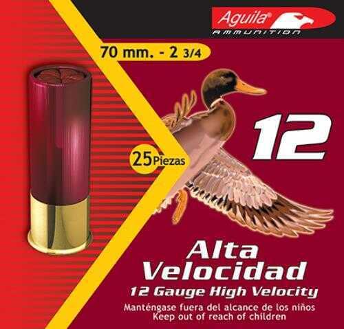 Aguila High Velocity Shot 12 Gauge 2.75 Inch 1.25 Ounce #2 Shot 3.75 Dram Shotshells, 250 Per Case