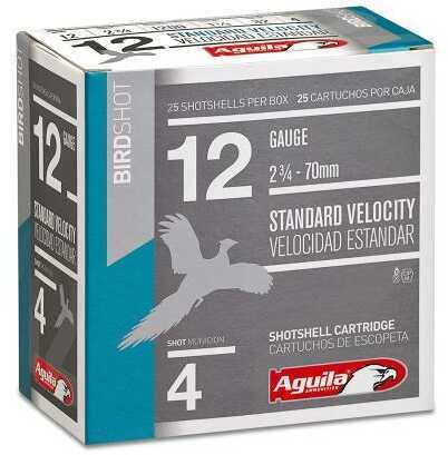 Aguila Standard Velocity 12 Gauge 2.75 Inch 1-1/8 Ounce 3.25 Dram #2 Lead Shot Shotshells, 250 Per Case