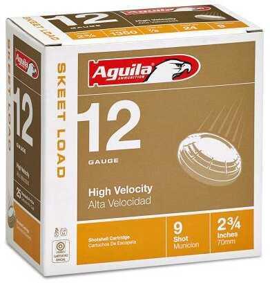 Aguila Skeet Load 12 Gauge 2.75 Inch 7/8 Ounces 2.75 Dram #9 Lead Shotshells, 250 Per Case