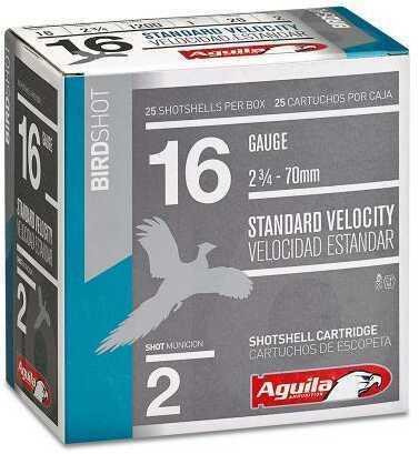 Aguila Standard Velocity 16 Gauge 2.75 Inch 1 Ounce 2-5/8 Dram #2 Lead Shotshells, 250 Per Case