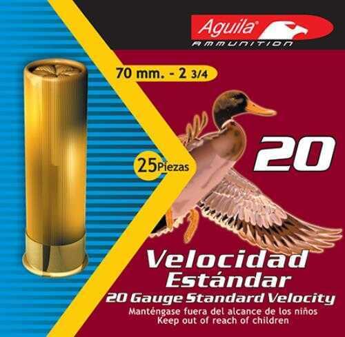 Aguila Standard Velocity 20 Gauge 2.75 Inch 7/8 Ounce 2.25 Dram #7.5 Lead Shotshells, 250 Per Case