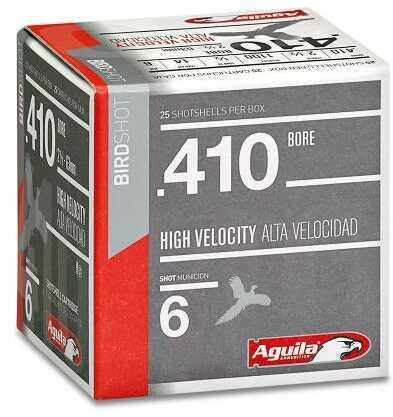 Aguila 410 Bore Shot & Buckshot 2.5 Inch 1/2 Ounce Max Dram #6 Lead Shotshells, 250 Per Case
