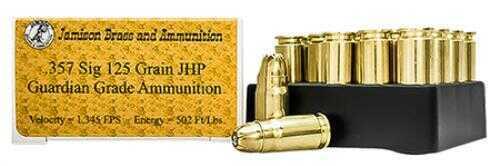 Jamison .357 SIG Montana Gold Jacketed Hollow Point, 125 Grain Ammunition, 20 Per Box