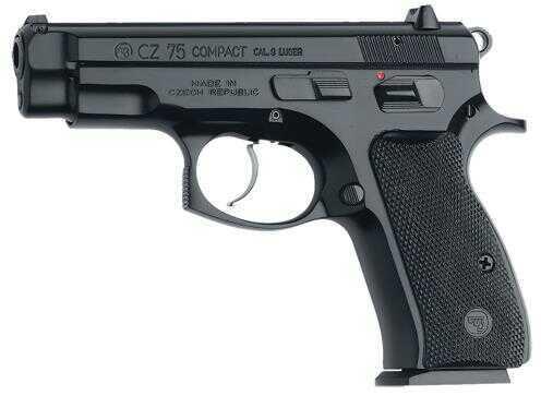 """CZ CZ-75 Single/Double Action Semi-Auto Compact Pistol 9mm Luger 3.9"""" Barrel 10+1 Rounds Black 01190"""