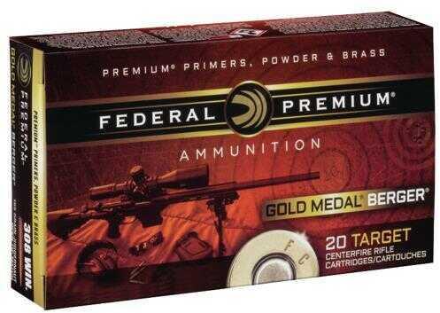 Federal 6.5 Creedmoor Premium Gold Medal Ammunition, 130 Grains, Open Tip Match, Per 20 Md: GM65CRDBH130