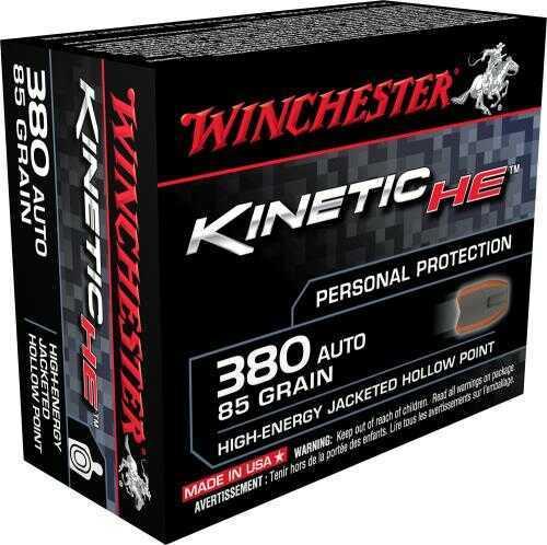 Winchester HE 380 Auto 85 gr JHP Ammunition 20 rounds