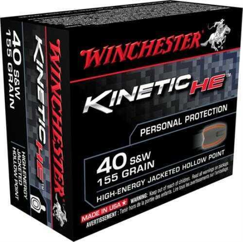 Winchester He 40 S&w 155gr Jhp Ammunition 20 Rounds