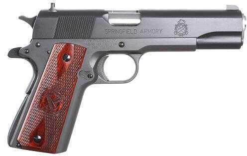 "Springfield Armory 1911 Mil-Spec 45 ACP 5"" Barrel 7 Round Cocobolo Wood Grip Black Finish Semi Automatic Pistol PB9108LP"