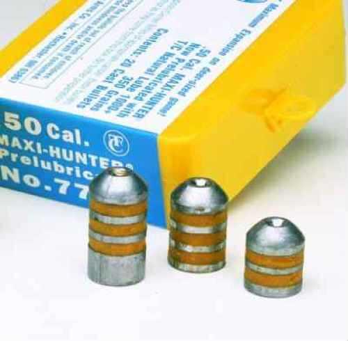 Thompson/Center Arms Maxi-Hunter Prelubricated Bullets .50 Caliber 275 Grains (per 20) 7885