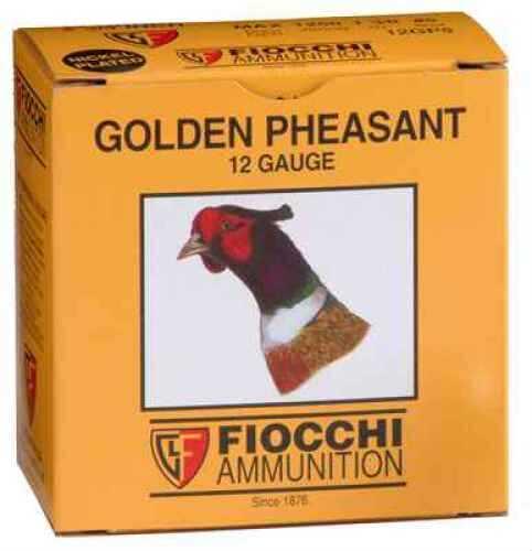 "Fiocchi Ammo Golden Pheasant 12 Ga. 2 3/4"" 1 3/8 oz #5 Nickel Plated Lead Ammunition Md: 12GPX Case Price 250 Rou 12GPX"